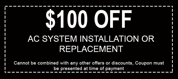 Discounts AC System Installation or Replacement