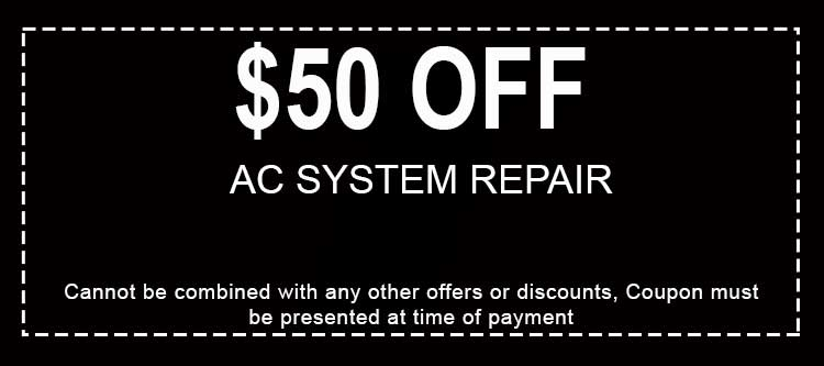 Discounts on AC System Repair